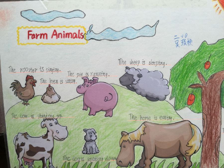 欢迎来到经发动物乐园——二年级特色英语小报制作